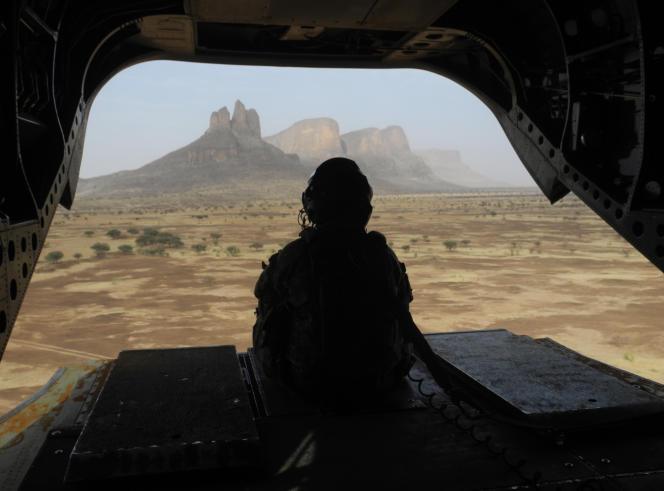 Soldat de la force« Barkhane», au Mali en 2019.