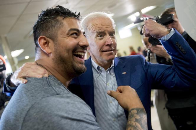 L'ancien vice-président démocrate Joe Biden, candidat à la présidentielle, en campagne à Gilford, dans le New Hampshire, le 10 février.