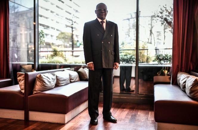 Maurice Kamto en visite à Paris le 30 janvier.