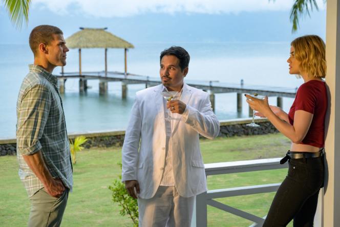 Austin Stowell, Michael Peña et Lucy Hale dans«Nightmare Island», de Jeff Wadlow.
