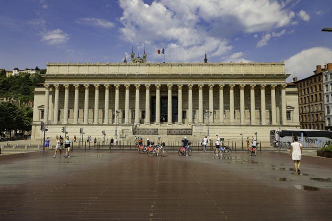 Le palais de justice de Lyon.