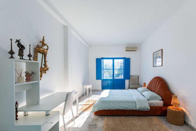 Một căn phòng tại Boundless Blue House.