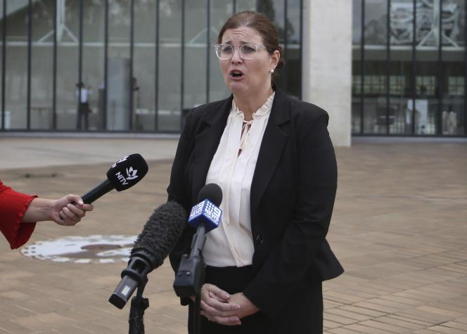 L'avocate Claire Gibbs, le 10 janvier, à Canberra.