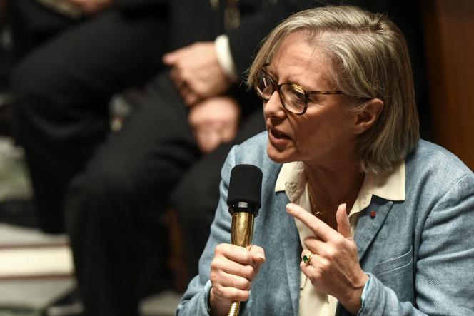 La secrétaire d'Etat chargée des personnes handicapées, Sophie Cluzel, à l'Assemblée nationale, à Paris, le 11février.