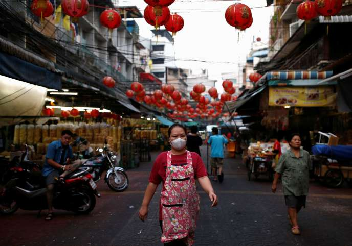 Dans le quartier chinois de Bangkok (Thaïlande), le 2 février.