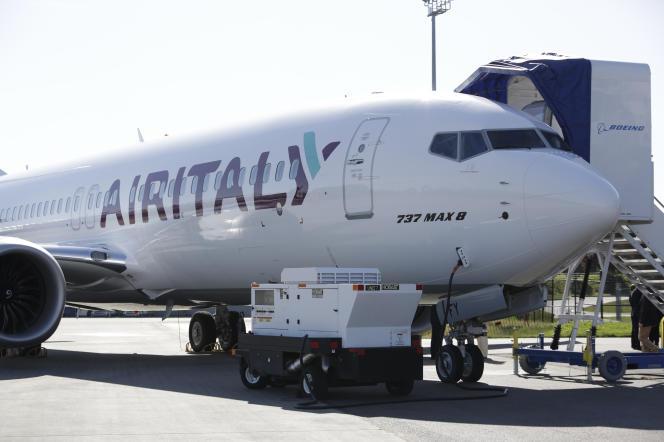 Un Boeing d'Air Italy, en mars 2018 à Washington.