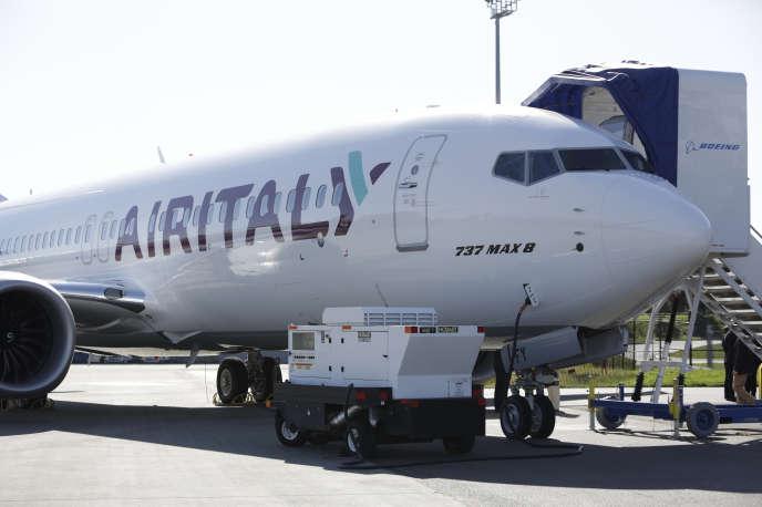 Một chiếc Boeing của Air Italy vào tháng 3 năm 2018 tại Washington.