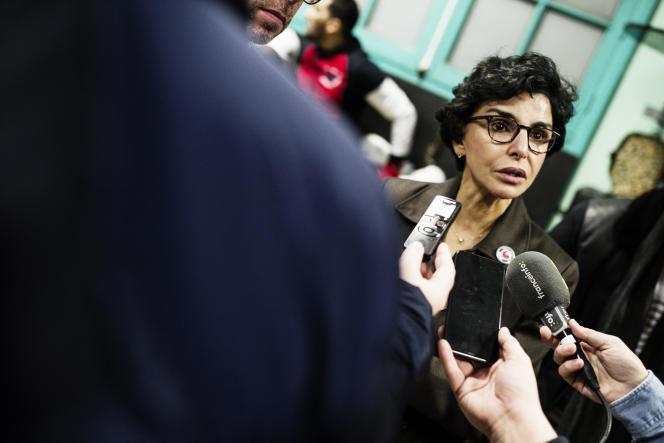 Rachida Dati lors d'une rencontre dans le 18e arrondissement de Paris.