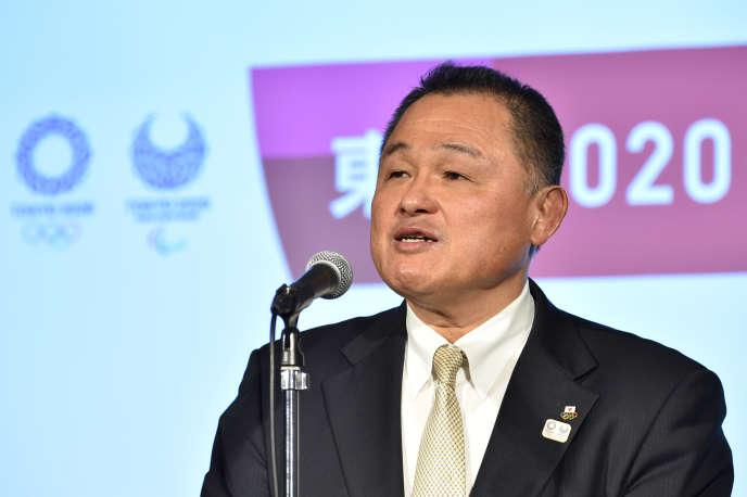Le président du Comité olympique japonais, Yasuhiro Yamashita, le 24 janvier 2020 à Tokyo, à six mois de l'ouverture des JO.