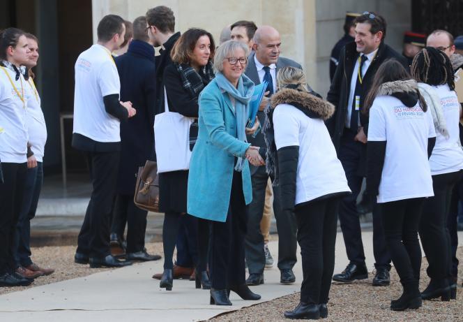 La secrétaire d'Etat chargée des personnes handicapées, Sophie Cluzel, lors de la Conférence nationale du handicap, le11 février2020, à l'Elysée.