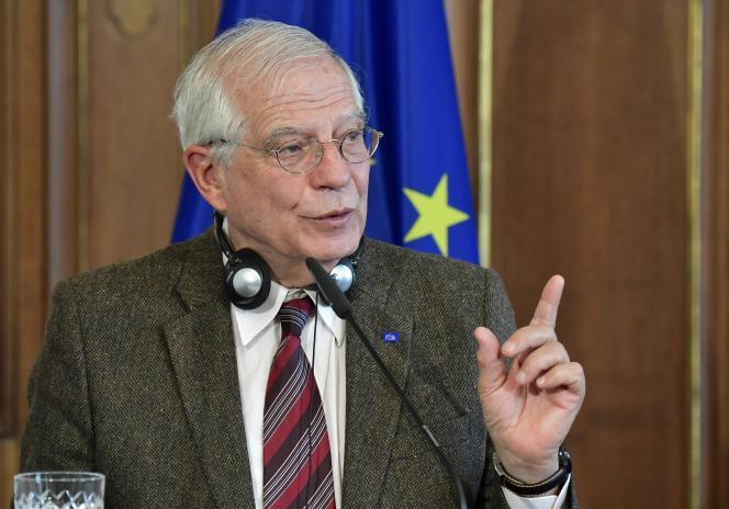 Josep Borrell,haut représentant de l'Union européenne pour la politique étrangère et de sécurité, à Berlin, le 27 janvier 2020.