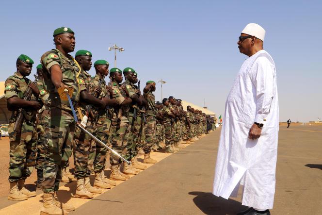 Le président malien Ibrahim Boubacar Keïta, à Gao, le 7 novembre 2019.