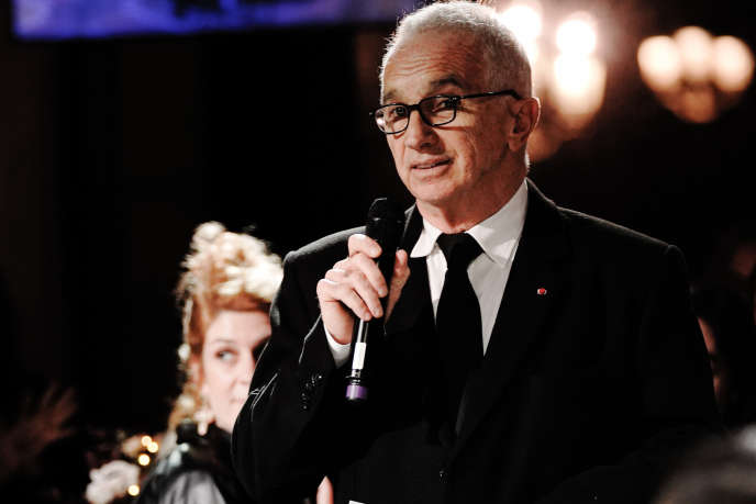 Alain Terzian, président de l'Académie des Césars, lors du dîner des Révélations, le 13 janvier 2020, à Paris.