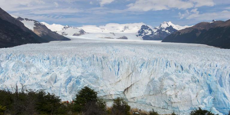 ARGENTINA - 2016/12/07: View of Perito Moreno Glacier in Los Glaciares National Park near El Calafate, Argentina. (Photo by Wolfgang Kaehler/LightRocket via Getty Images)