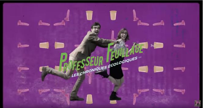 Sur Youtube, le Professeur Feuillage (Mathieu Duméry) diffuse des chroniques écologiques depuis 2014.