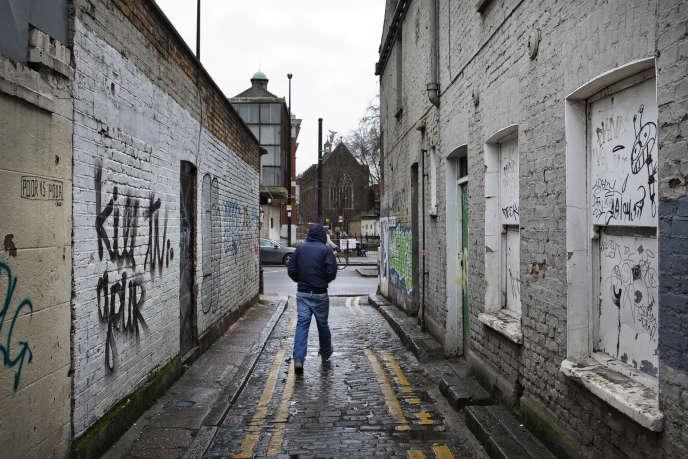 Dans la banlieue de Londres, en 2014.