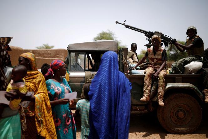 Durant une opération à Ndaki (Mali), le 29 juillet 2019.