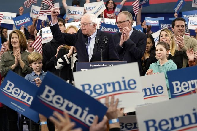 Bernie Sanders à Manchester, dans le New Hampshire, le 11février.