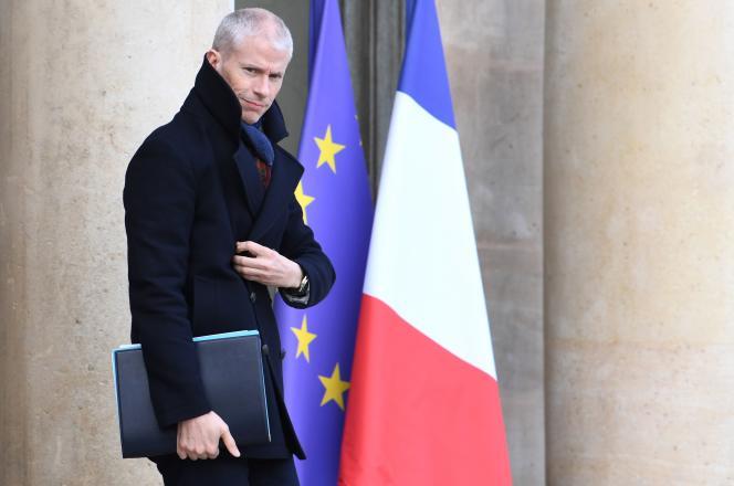 Le ministre de la culture, Franck Riester, à l'Elysée, le 12 février.