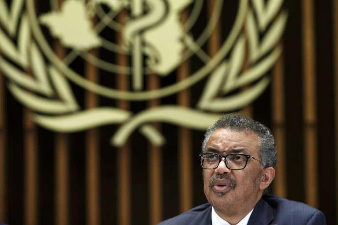 Le docteur Tedros Adhanom Ghebreyesus, directeur général de l'Organisation mondiale de la santé (OMS), au siège de l'Organisation mondiale de la santé (OMS) à Genève, en Suisse, le 12 février.