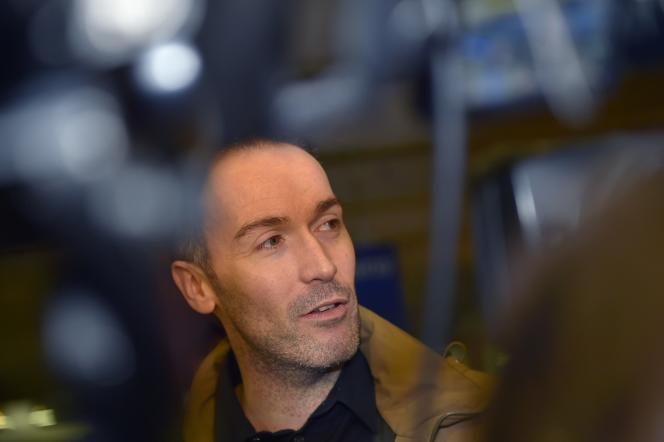 Yoann Barbereau à son arrivée à Nantes, d'où il est originaire, après sa sortie de Russie, en novembre 2017.