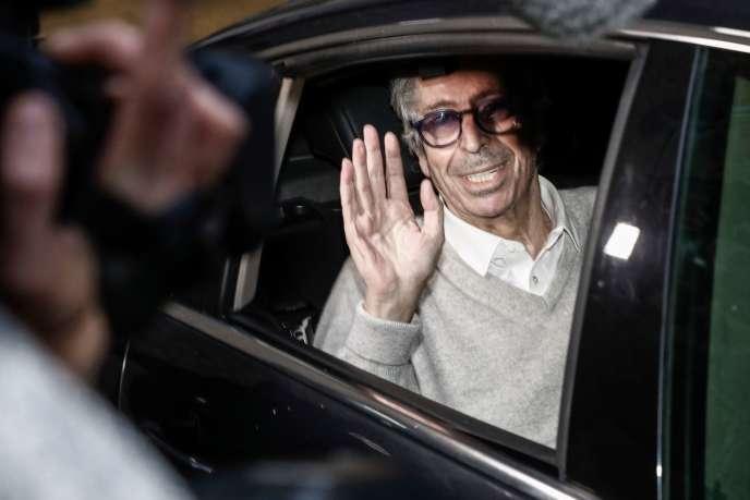 Patrick Balkany quitte la prison de la Santé, le 12 février.