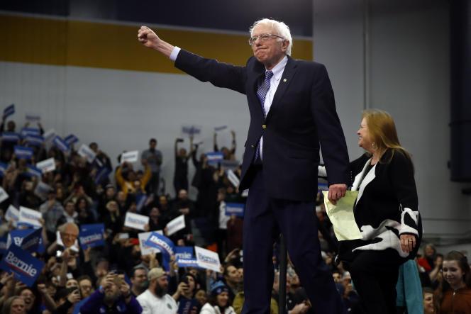 Le candidat à l'investiture démocrate Bernie Sanders le 11 février à Manchester, dans le New Hampshire.