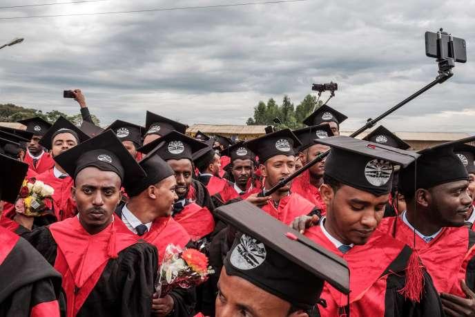 Des étudiants de l'université de Baher Dar, dans le nord de l'Ethiopie, en novembre 2018.