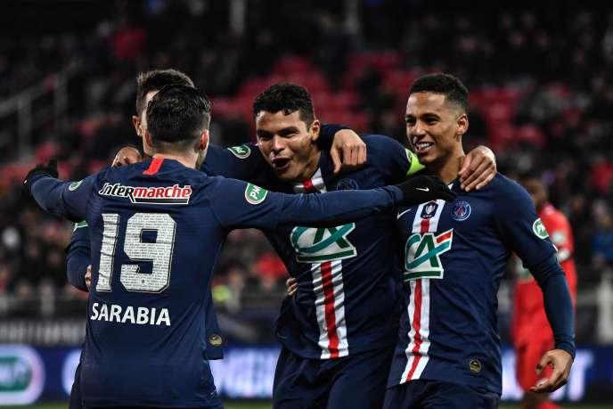 Thiago Silva lors de son but à la 49e minute, le 12 février 2020.