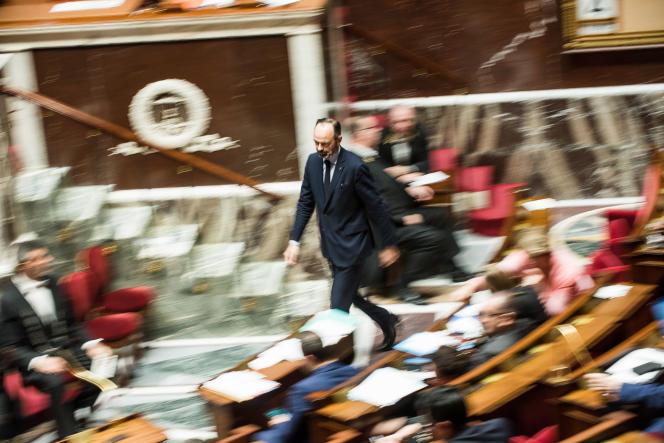 Edouard Philippe à l'Assemblée nationale, le 4 février.