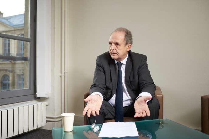 Alain Christnacht, président du Samusocial, le 11 février, à Paris.