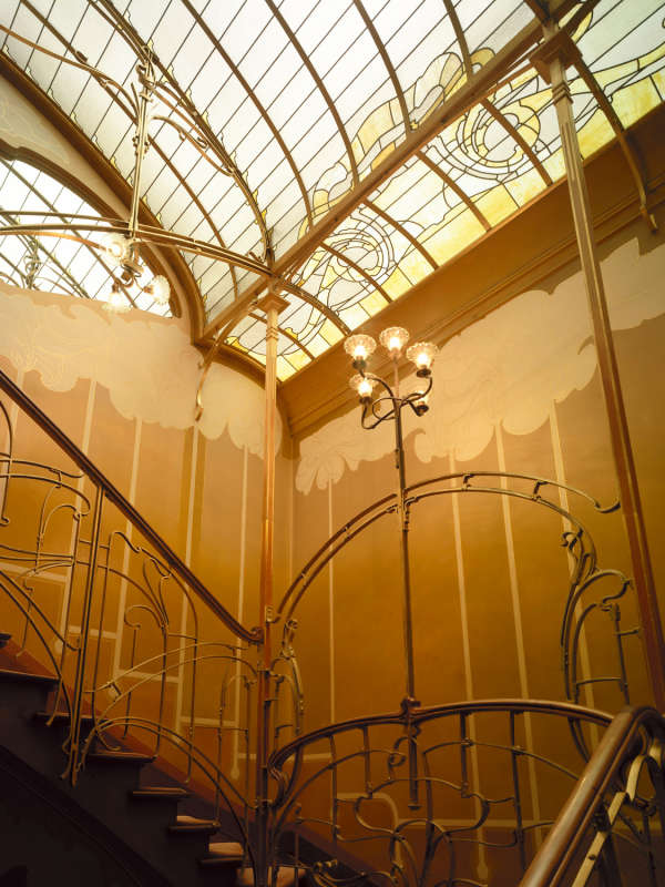 Les escaliers de la Maison Horta, à Bruxelles.