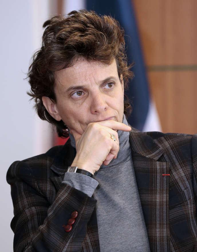 Marie-Laure Denis, la présidente de la Commission nationale de l'informatique et des libertés, le 21 mars 2013, au siège de la CNIL.