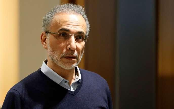 Tariq Ramadan au Palais de justice de Paris, le 13février.
