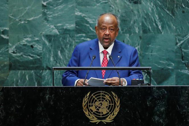 Le président djiboutien, Ismail Omar Guelleh, lors de la 74e session de l'Assemblée générale des Nations unies, le 26 septembre 2019 à New York.