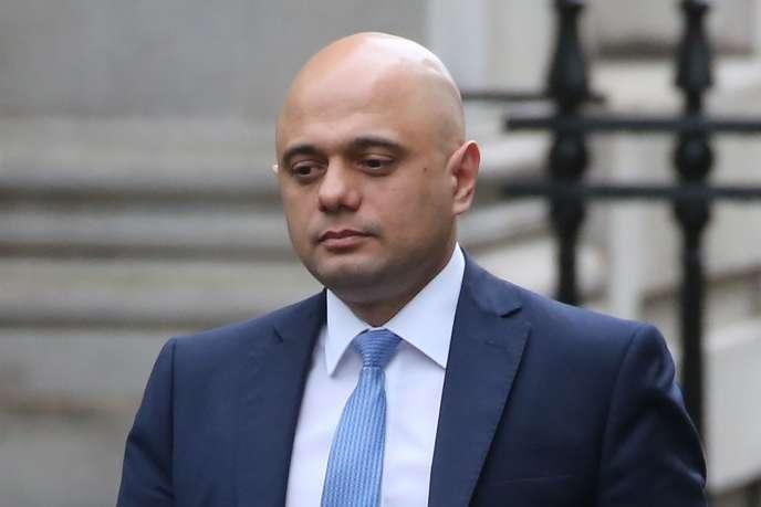 Le chancelier de l'Echiquier britannique, Sajid Javid, à Londres, le 13 février.