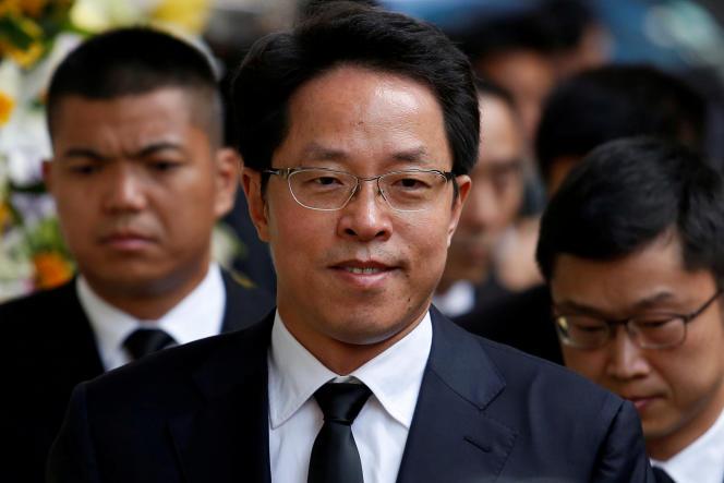 Zhang Xiaoming, l'ancien directeur du bureau des affaires de Hongkong, en octobre 2016.