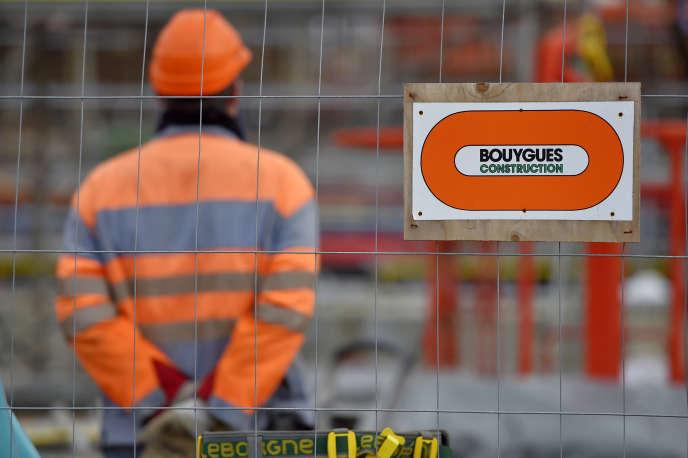 Un chantier de Bouygues construction, à Saint-Nazaire (Loire-Atlantique), en 2017.