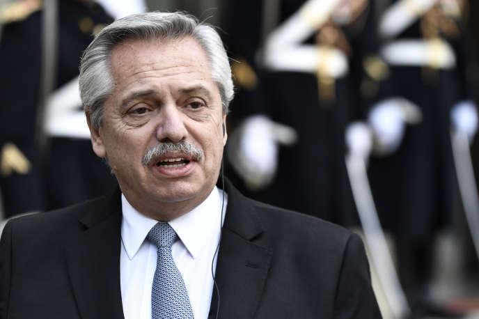 Le président argentin, Alberto Fernández, en visite à l'Elysée, le 5 février.