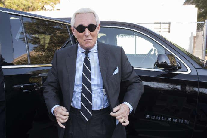 Roger Stone au deuxième jour de son procès, le 6 novembre 2019, à Washington.