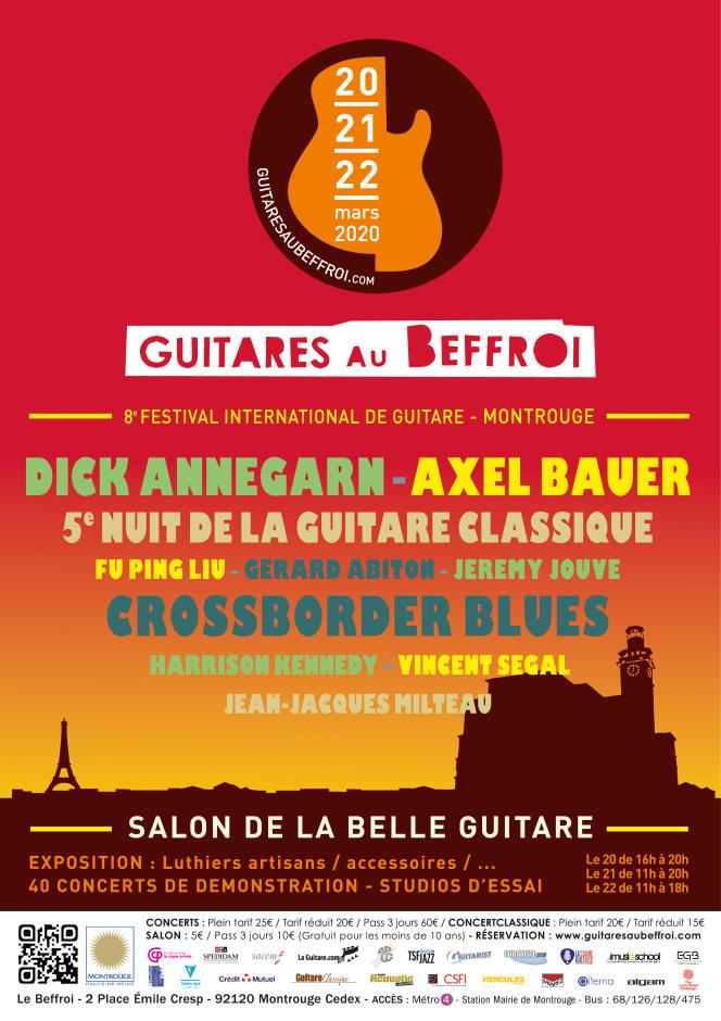 Affiche du festival Guitares au Beffroi.