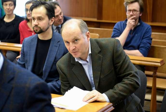 Le banquier Philippe Delpal, chargé des services financiers de Baring Vostok, au tribunal, à Moscou, le 10 février.