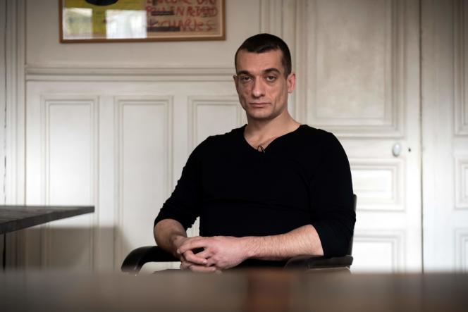 L'artiste contestataire russe Piotr Pavlenski, le 14 février.