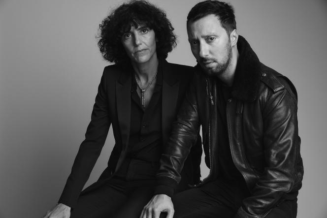 Francesca Bellettini et Anthony Vaccarello, à Los Angeles, le 7 février.