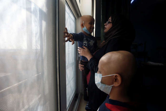 Des enfants atteints de cancer à l'hôpital de Bassora, Irak, le 14 janvier.