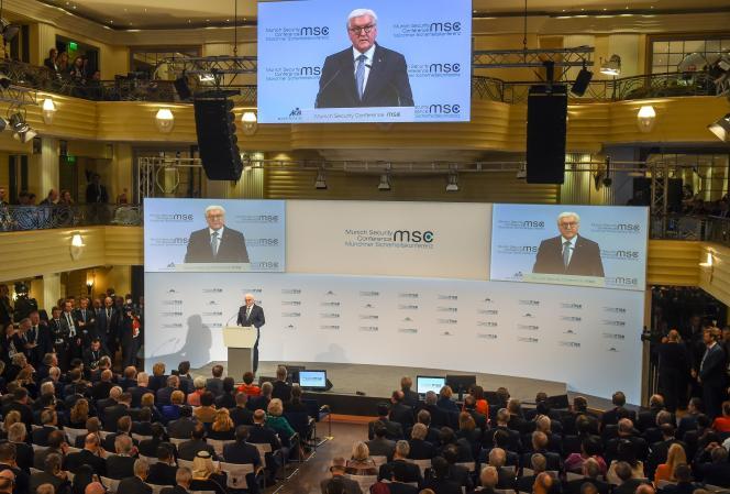 Ouverture de la 56eConférence de Munich sur la sécurité par le président allemandFrank-Walter Steinmeier, le 14 février.