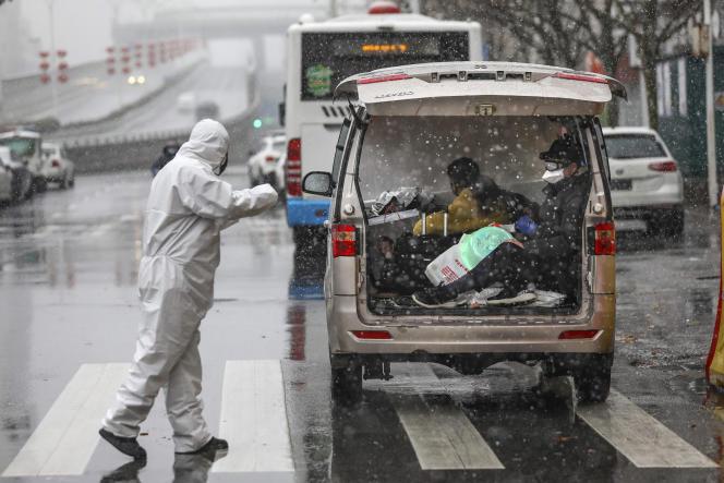 A Wuhan, foyer de l'épidémie, samedi 15 février.