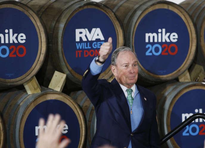 Mike Bloomberg à Richmond en Virginie, le 15 février 2020.