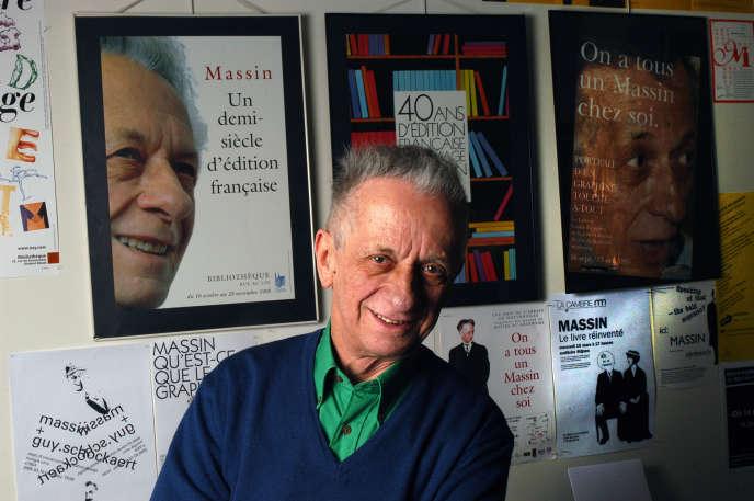 Robert Massin, à Paris, en octobre 2019.