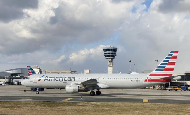 Un Airbus A320-211 d'American Airlines, àPhiladelphie, en Pennsylvanie, le 8 janvier.